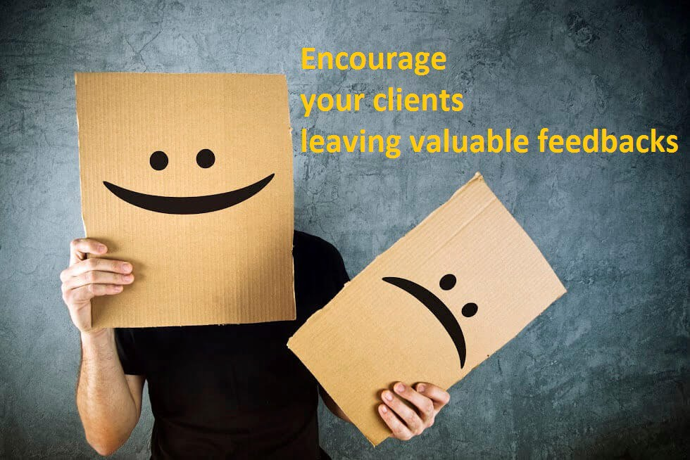 Valuable feedbacks for personalized customer support
